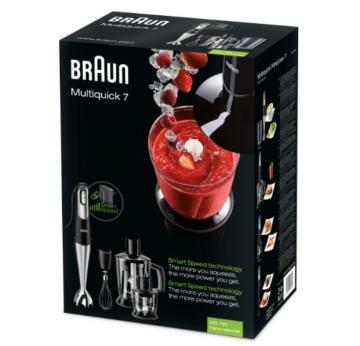 Braun MQ 745 Aperitive 7 Stabmixer (750 Watt, 0,6 Liter, Multiquick) schwarz -